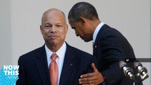 Pres. Obama with DHS secretary Johnson