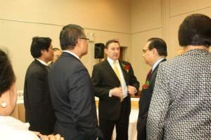Ambassador de Leon meets UPF President Ricardo de Sena and other officers.