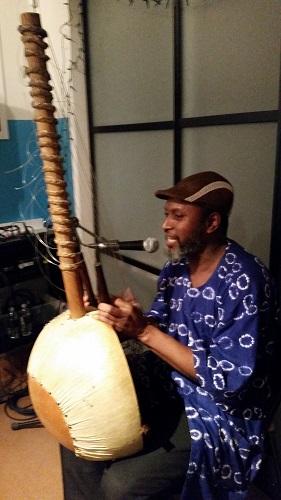 Salieu Suso plays western African songs with kora.