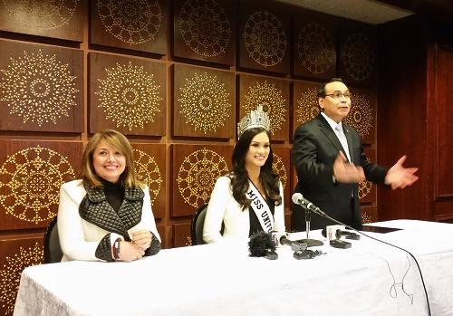 With Ms. Paula Shugart, MUO president and Amb. Mario de Leon, Phil. Consul General to NY at the presscon.